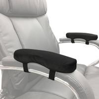 1 Pair Mat Black Chair Breathable Soft Elbow Pillow Armrest Pad Home