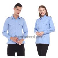 Baju PDL Biru Muda Langit Lengan Panjang Kemeja PDH Baju PNS Baju