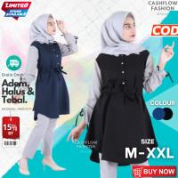 MHBL - Tunik Atasan Wanita Remaja Import Baju Muslim Kekinian Polos Te