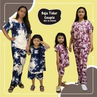 Setelan Couple Baju Tidur Babydoll Tie Dye Ibu dan Anak Perempuan