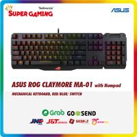 Keyboard ASUS ROG CLAYMORE + NUMPAD MA-01 BLUE/RED Promo Gaming Murah