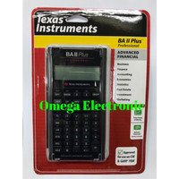 TERB4RU Texas Instruments BA II Plus Professional Financial Calculator