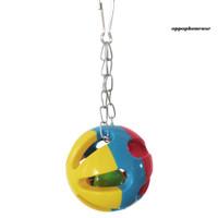 5pcs Mainan Ayunan Gantung Dengan Rantai Lonceng Untuk Burung Beo