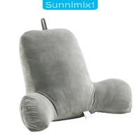 sunnyimix1 Bantal Punggung Katun Hollow Untuk Membaca/menonton Tv