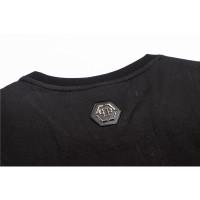Philipp Kaos T-Shirt Lengan Pendek Model Gambar Tengkorak Warna Hitam