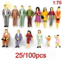 25 / 100Pcs Miniatur Figure Kereta Api Skala 1: 75