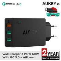 Aukey PA-T14 Charger 3 output QC 3.0 Garansi Resmi Aukey Indonesia