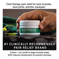 BIOFREEZE PAIN RELIEF CREAM 3OZ COLD THERAPY ARTHRITIS BACKPAIN SORE