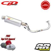 Knalpot Racing Motor CLD Racing Honda Vario 125 150 C1 Oval