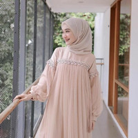 Baju Kondangan Gamis Wanita Brukat Remaja Terbaru Dress Bumil Limited