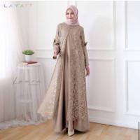 Unik Dress Brukat Muslim Baju Gamis Brokat Broklat Modern Terbaru