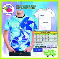 Baju Anak Laki Laki Sonic The Hedgehog Series 3D Kaos Murah #AL-169