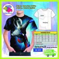 Baju Anak Laki Laki Ultraman Series 3D Kaos Kartun Lucu Murah #AL-119