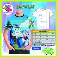 Baju Anak Laki Laki Robocar Poli 3D Kaos Kartun Lucu Murah #AL-64