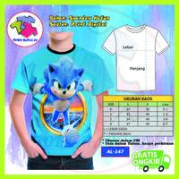 Baju Anak Laki Laki Sonic The Hedgehog 3D Kaos Murah #AL-147