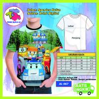 Baju Anak Laki Laki Robocar Poli 3D Kaos Kartun Lucu Murah #AL-67