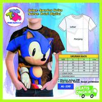Baju Anak Laki Laki Sonic The Hedgehog 3D Kaos Murah #AL-150