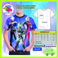 Baju Anak Laki Laki Ultraman Series 3D Kaos Kartun Lucu Murah #AL-117