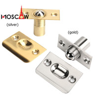 Spring Invisible Wooden Cabinet Door Beads Lock Closet Ball Catch L 0c