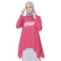 Kaos Batwing Lengan Panjang Muslimah Model Musimah Kaos Atasan