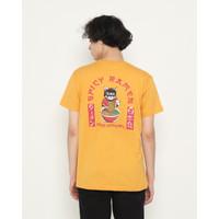 Kaos Pria Erigo T-Shirt Old Ramen Cotton Combed Mustard