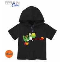 Baju Hoodie ANAK Mario Bros Yoshi Dino Baju 3D 100% Original #KDA-66