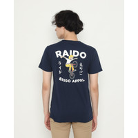 Kaos Pria Erigo T-Shirt Raido Baiku Cotton Combed Navy - S