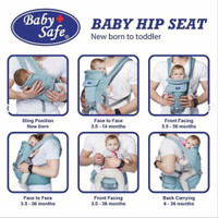 Baby Safe Hipseat Carrier Newborn (Blue)
