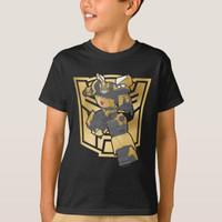 Kaos Baju Anak Transformers Bumblebee Gold Autobot Symbol