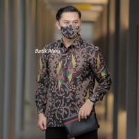 Baju Kemeja Batik Pria Lengan Panjang Slimfit Premium Aluna PCW 064