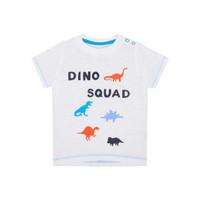 Mothercare Baby Dino Squad T-Shirt - Kaos Bayi (Putih)