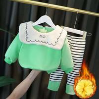 Anak Perempuan Baju Musim Dingin Plus Beludru Penebalan 2020 Baru