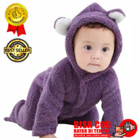 Jaket Bayi Cowok Perempuan Newborn Cewek Laki Laki Tebal Bulu Anak