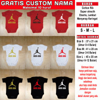 baju bayi custom basket jordan Gratis Custom nama jumper nba romper