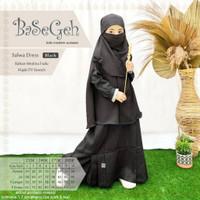 TERBAIK Salwa Black Baju Muslim Gamis Cadar Anak Basegeh AWB