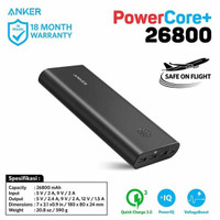 Dijual PowerBank Anker PowerCore 26800 mAh QC 3.0 Black - A1374 Murah