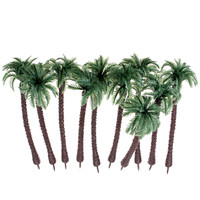 New 10PCS Mini Artificial Trees Coconut Tree Plant Home Office