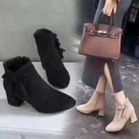 Ankle Boots Boots Korea Tinggi Import Cewek Wanita S96 Sepatu Premium