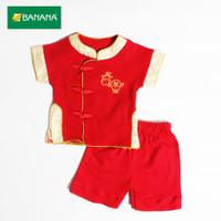Kids BANANA Setelan Baju Imlek Bayi Laki - Laki Cheongsam
