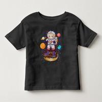 Baju Kaos Anak Space Sloth Astronaut Galaxy Planet Donut Candy