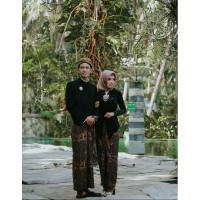 Baju Prewed / Baju Couple Beskap Kebaya Bludru / Baju Adat Jawa - SOLO