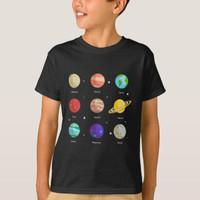 Kaos Baju Anak Space Galaxy Solar Planets Venus Mars Jupiter Uran