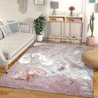 AZ Karpet fashion modern Nordic abstrak bubuk putih yang indah emas