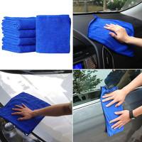5 Pcs Lap/Handuk Microfiber Tebal untuk Membersihkan Mobil/Rumah
