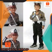 SETELAN Seragam polantas anak tk/baju polisi anak tk 313 original