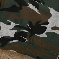 Setelan Kaos T-Shirt Lengan Panjang Celana Motif Camo untuk