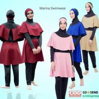 Baju Renang Wanita Hijab Muslim Muslimah Dewasa Syari Jumpsuit Marina