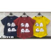 JYgn 1-10 Tahun 19117 Baju Tee Pendek - Cewek CHERON Anak Atasan Tumbl