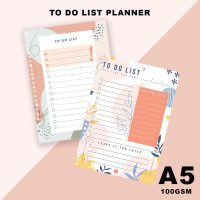 Isi Loose Leaf Planner A5 - TO DO LIST/100gram/Kertas Refill