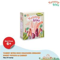 Yummy Bites Rice Crackers Organic Sweet Potato & Carrot 50gr